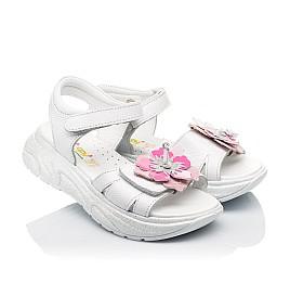 Детские босоножки Woopy Fashion белые для девочек натуральная кожа размер 26-34 (5204) Фото 1