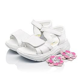 Детские босоножки Woopy Fashion белые для девочек натуральная кожа размер 26-34 (5204) Фото 3