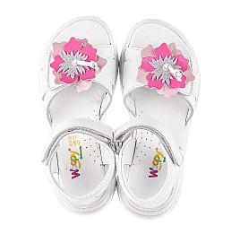 Детские босоножки Woopy Fashion белые для девочек натуральная кожа размер 26-34 (5204) Фото 5