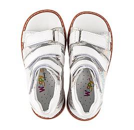 Детские босоножки Woopy Orthopedic серебряные для девочек натуральная кожа размер 19-27 (5205) Фото 5