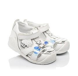 Детские закрытые босоножки Woopy Fashion белые для девочек натуральная кожа размер 18-21 (5206) Фото 1