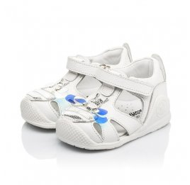 Детские закрытые босоножки Woopy Fashion белые для девочек натуральная кожа размер 18-21 (5206) Фото 3