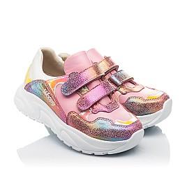 Детские  Woopy Fashion розовые для девочек натуральная кожа и нубук размер 24-36 (5209) Фото 1