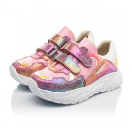 Детские  Woopy Fashion розовые для девочек натуральная кожа и нубук размер 24-36 (5209) Фото 3