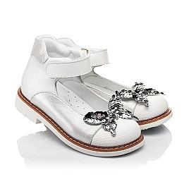 Детские туфли Woopy Orthopedic белые для девочек натуральная кожа и нубук размер 26-34 (5212) Фото 1