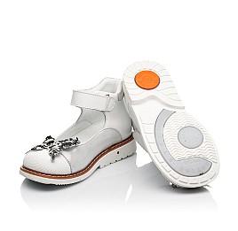 Детские туфли Woopy Orthopedic белые для девочек натуральная кожа и нубук размер 26-34 (5212) Фото 2