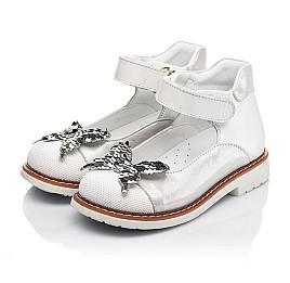 Детские туфли Woopy Orthopedic белые для девочек натуральная кожа и нубук размер 26-34 (5212) Фото 3