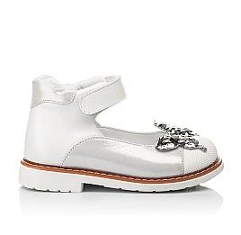 Детские туфли Woopy Orthopedic белые для девочек натуральная кожа и нубук размер 26-34 (5212) Фото 4