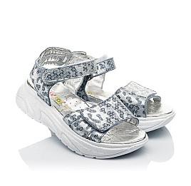 Детские босоножки Woopy Fashion серебряные для девочек натуральный нубук размер 31-40 (5213) Фото 1