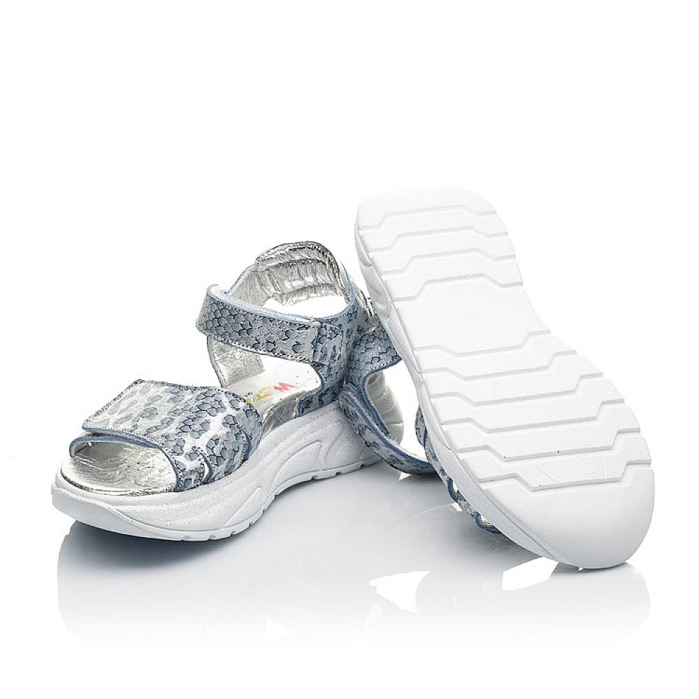 Детские босоножки Woopy Fashion серебряные для девочек натуральный нубук размер 28-40 (5213) Фото 2