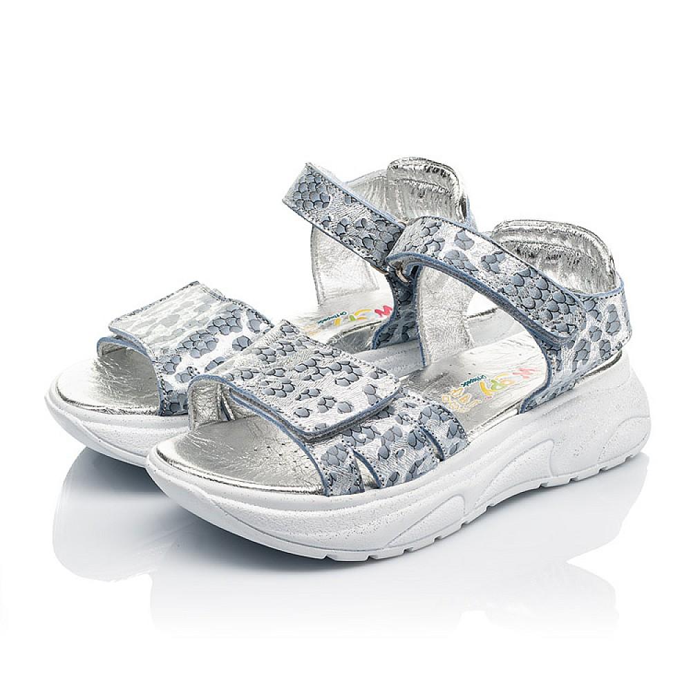 Детские босоножки Woopy Fashion серебряные для девочек натуральный нубук размер 28-40 (5213) Фото 3