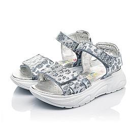 Детские босоножки Woopy Fashion серебряные для девочек натуральный нубук размер 31-40 (5213) Фото 3