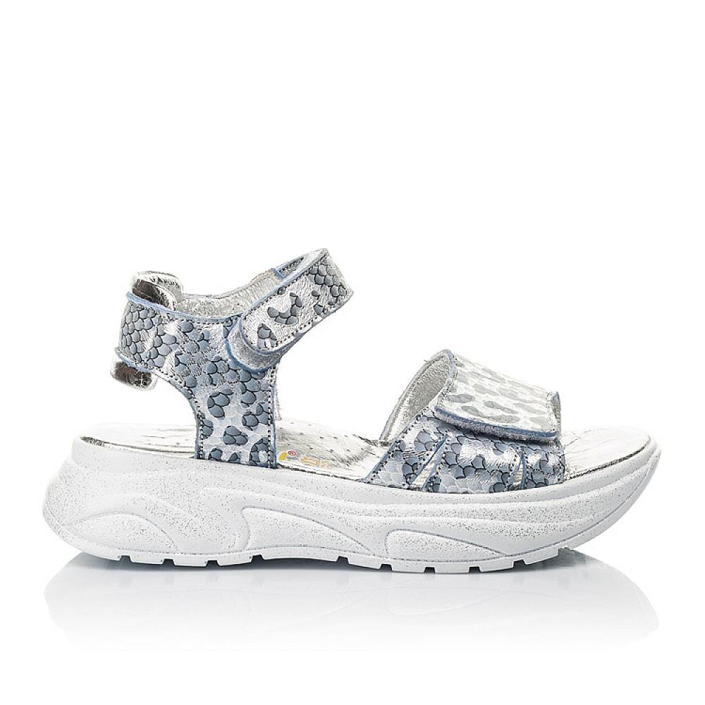 Детские босоножки Woopy Fashion серебряные для девочек натуральный нубук размер 28-40 (5213) Фото 4