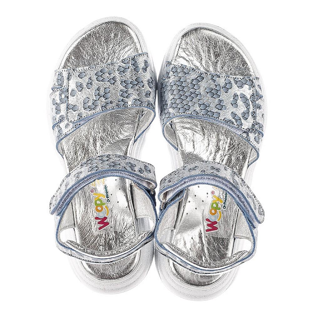 Детские босоножки Woopy Fashion серебряные для девочек натуральный нубук размер 28-40 (5213) Фото 5