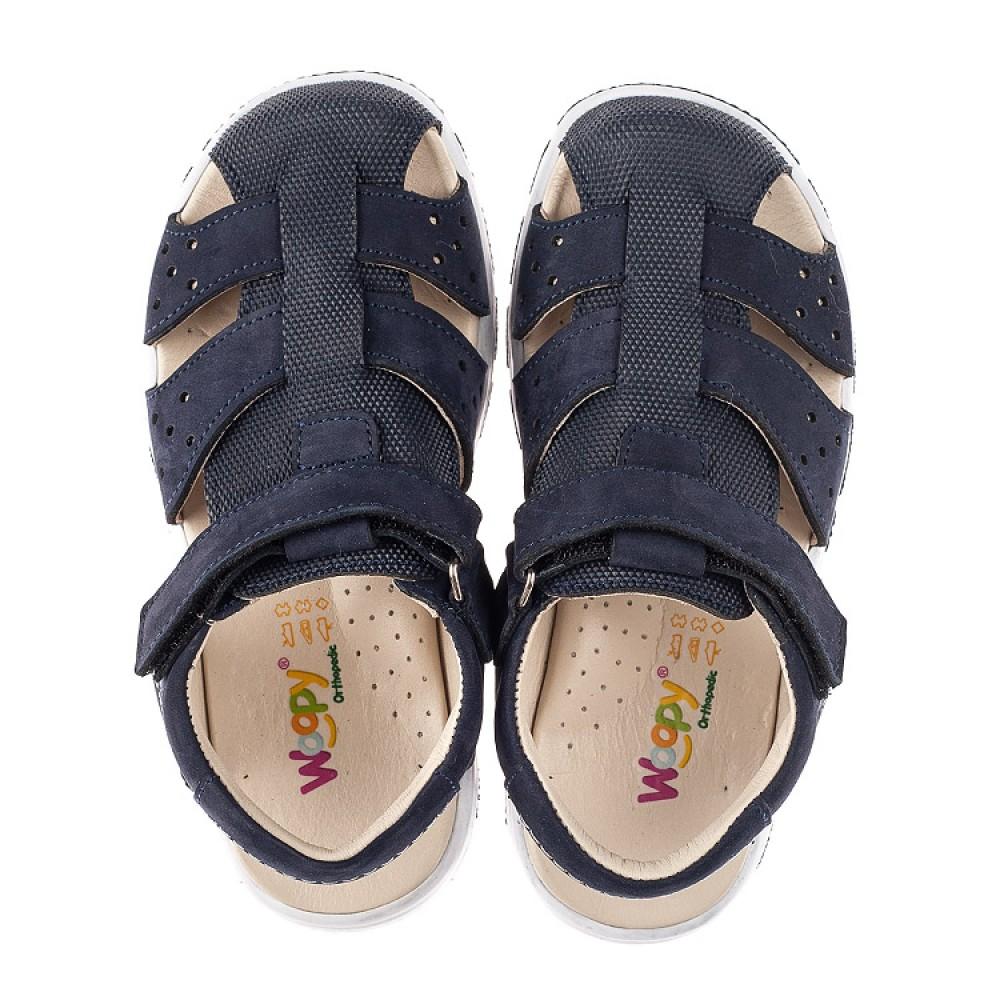 Детские босоножки Woopy Fashion темно-синие для мальчиков натуральный нубук размер 25-36 (5214) Фото 5
