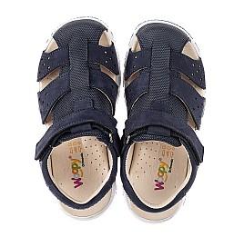 Детские босоножки Woopy Fashion темно-синие для мальчиков натуральный нубук размер 25-35 (5214) Фото 5