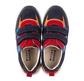 Детские кроссовки Woopy Fashion разноцветные для мальчиков натуральный нубук и замша размер 29-38 (5215) Фото 5