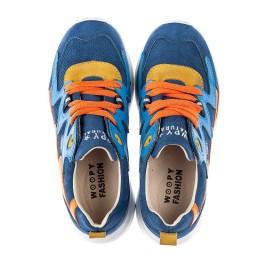 Детские кроссовки Woopy Fashion разноцветные для мальчиков натуральная кожа, нубук и замша размер 30-39 (5217) Фото 5