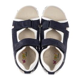 Детские босоножки Woopy Fashion темно-синие для мальчиков натуральный нубук размер 29-40 (5218) Фото 5