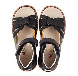 Детские босоножки Woopy Orthopedic черные для мальчиков натуральный нубук размер 26-36 (5219) Фото 5