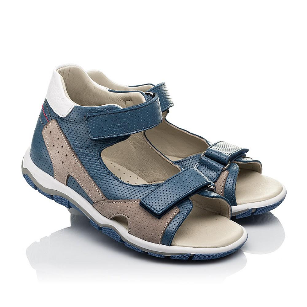 Детские босоножки Woopy Fashion синие для мальчиков натуральная кожа размер 23-36 (5220) Фото 1