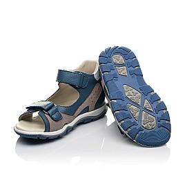 Детские босоножки Woopy Fashion синие для мальчиков натуральная кожа размер 23-36 (5220) Фото 2