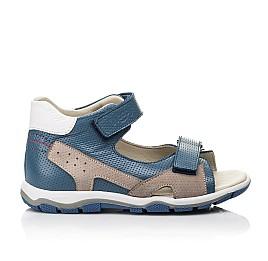Детские босоножки Woopy Fashion синие для мальчиков натуральная кожа размер 23-36 (5220) Фото 4