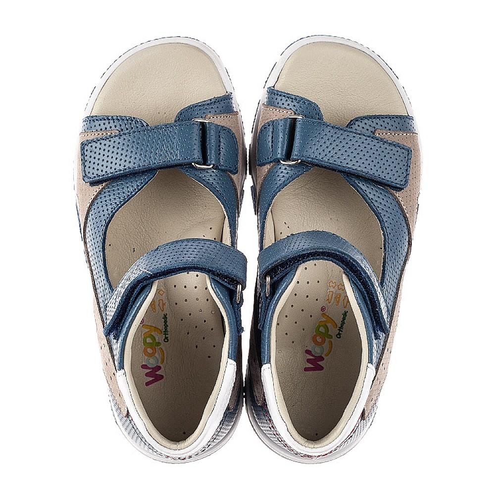 Детские босоножки Woopy Fashion синие для мальчиков натуральная кожа размер 23-36 (5220) Фото 5