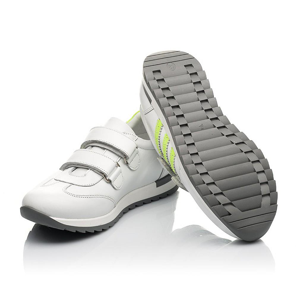 Детские кроссовки Woopy Fashion белые для мальчиков натуральная кожа размер 26-37 (5224) Фото 2