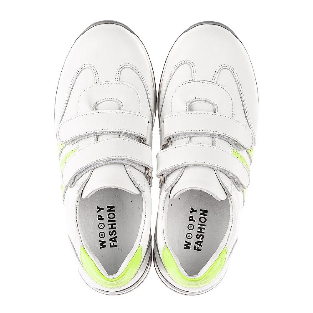 Детские кроссовки Woopy Fashion белые для мальчиков натуральная кожа размер 26-37 (5224) Фото 5