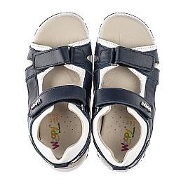 Детские босоножки Woopy Fashion синие для мальчиков натуральная кожа размер 29-40 (5225) Фото 5