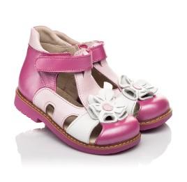 Детские закрытые босоножки Woopy Orthopedic розовые для девочек натуральная кожа размер 21-27 (5226) Фото 1