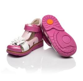 Детские закрытые босоножки Woopy Orthopedic розовые для девочек натуральная кожа размер 21-26 (5226) Фото 2