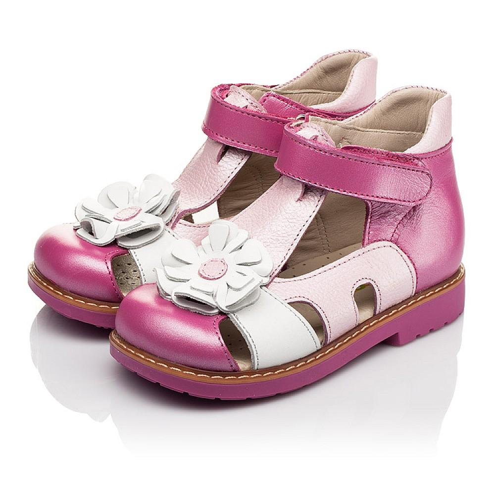 Детские закрытые босоножки Woopy Orthopedic розовые для девочек натуральная кожа размер 21-27 (5226) Фото 3
