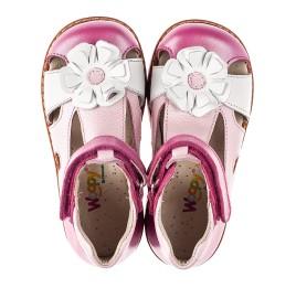Детские закрытые босоножки Woopy Orthopedic розовые для девочек натуральная кожа размер 21-25 (5226) Фото 5