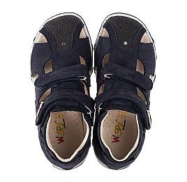 Детские босоножки Woopy Fashion темно-синие для мальчиков натуральный нубук размер 23-33 (5229) Фото 5
