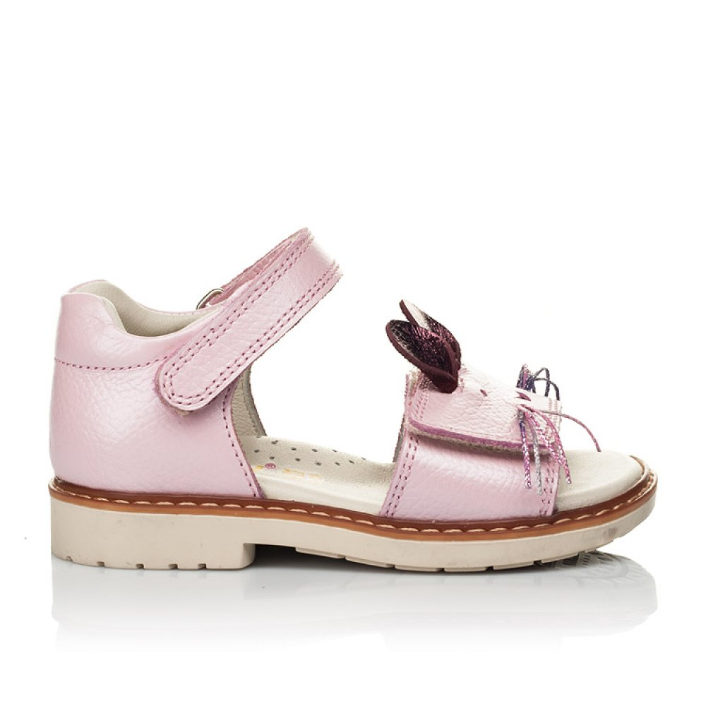 Детские босоножки Woopy Orthopedic розовые для девочек натуральная кожа размер 21-25 (5231) Фото 4