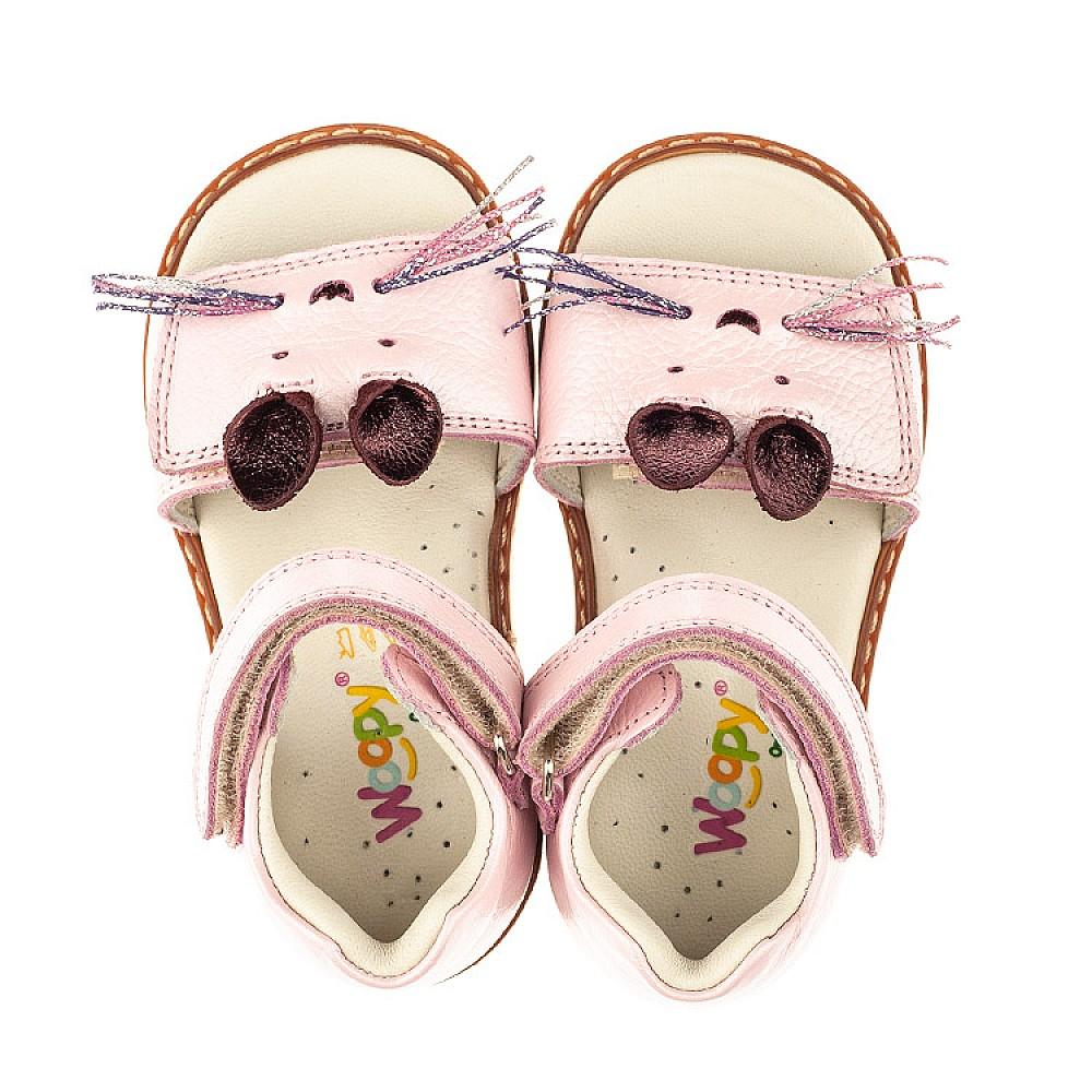 Детские босоножки Woopy Orthopedic розовые для девочек натуральная кожа размер 21-25 (5231) Фото 5