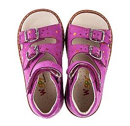 Детские босоножки Woopy Orthopedic розовые для девочек натуральный нубук размер 21-30 (5232) Фото 5