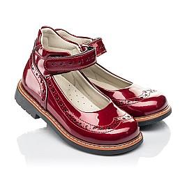 Детские туфли Woopy Orthopedic красные для девочек натуральная лаковая кожа размер 25-34 (7001) Фото 1