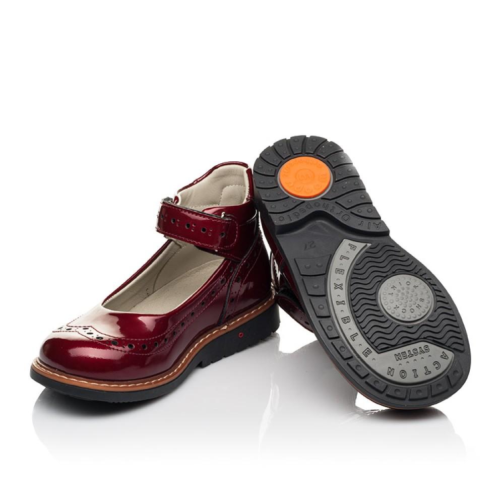 Детские туфли Woopy Orthopedic красные для девочек натуральная лаковая кожа размер 25-34 (7001) Фото 2