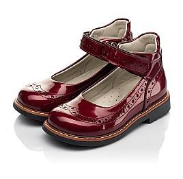 Детские туфли Woopy Orthopedic красные для девочек натуральная лаковая кожа размер 25-34 (7001) Фото 3