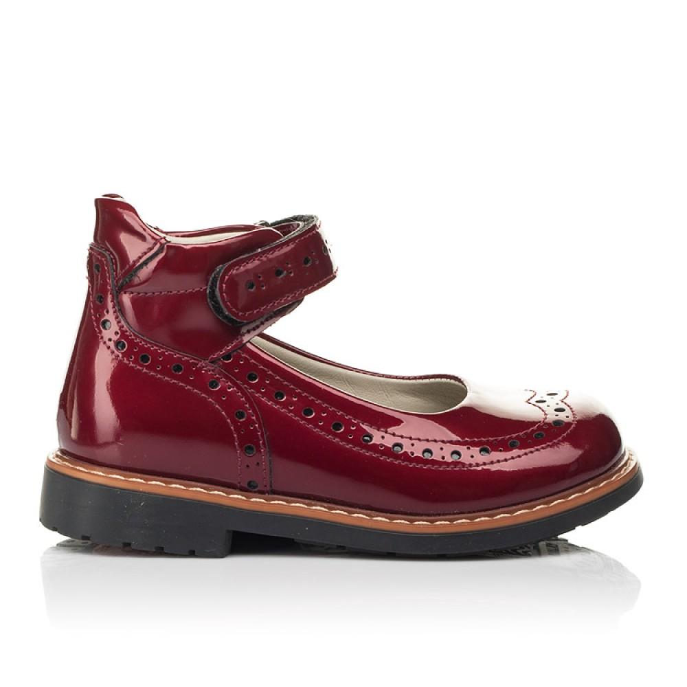 Детские туфли Woopy Orthopedic красные для девочек натуральная лаковая кожа размер 25-34 (7001) Фото 4