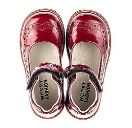 Детские туфли Woopy Orthopedic красные для девочек натуральная лаковая кожа размер 25-34 (7001) Фото 5