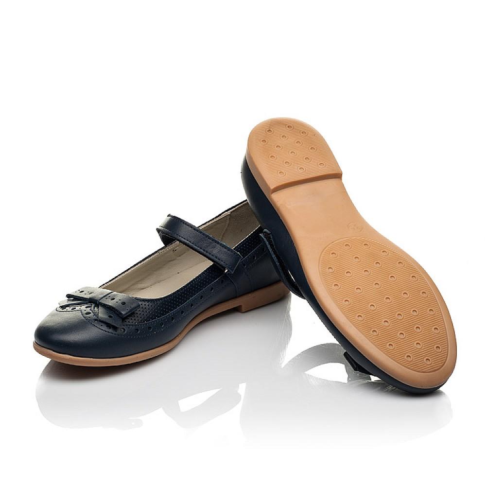 Детские туфли Woopy Fashion синие для девочек натуральная кожа размер 29-38 (7002) Фото 2