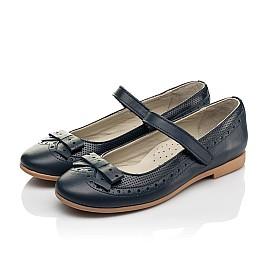 Детские туфли Woopy Fashion синие для девочек натуральная кожа размер 29-38 (7002) Фото 3