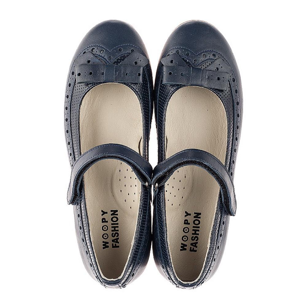 Детские туфли Woopy Fashion синие для девочек натуральная кожа размер 29-38 (7002) Фото 5