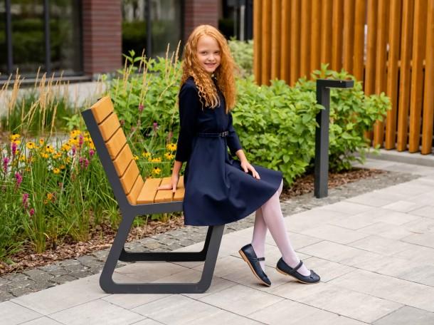 Девочка обута в детские туфли Woopy Fashion синие (7002) Фото 1