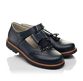 Детские туфли Woopy Fashion синие для девочек натуральная кожа размер 34-39 (7003) Фото 1