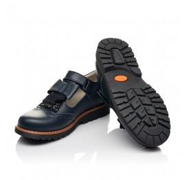 Детские туфли Woopy Fashion синие для девочек натуральная кожа размер 34-39 (7003) Фото 2